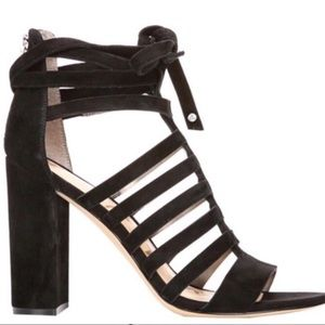 Sam Edelman Yarina Black Suede Caged Sandals
